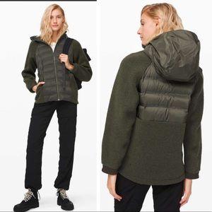 Lululemon NEW Tag Go Cozy Insulated Hood Jacket Sherpa  Fleece Nylon Windproof